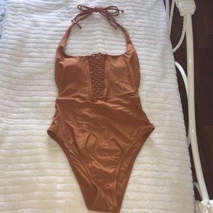 Aerie - Macrame Scoop One-piece Swimsuit